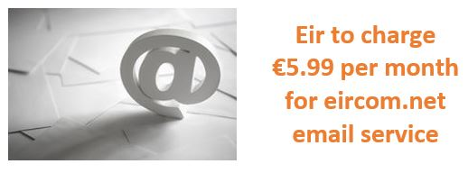 Eir to start charging €5.99 per month for eircom.net email service